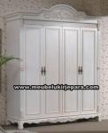 Lemari Pakaian 4 Pintu Warna Putih MU-LP40