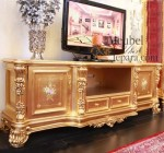 Buffet Tv Mewah Ukiran Gold MU-BD12