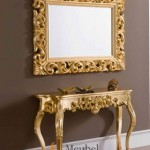 MU-MR29 Miror Meja Rias Gold