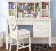 Meja Belajar Warna Putih Desain Minimalis MU-MB03