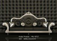 Kursi Sofa Minimalis Black Silver MU-SF57