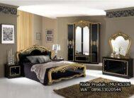 Set Tempat Tidur Antik Black Gold MU-KS106