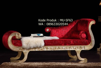 MU-SF63 Sofa Ulir  Warna Merah