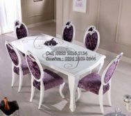 Set Kursi Makan Cantik Warna Busa Violet MU-MM98